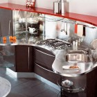 Modular Kitchen with Stainless Stell Design