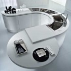 Moedrn White Modular Circular Kitchen Center