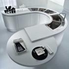 Moedrn White Modular Circular Kitchen Center