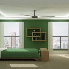 Monochromatic Green Bedroom by Jeremy Sikorski