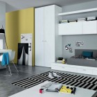 Mustard Black White Contemporar Teenagers Room Design Ideas