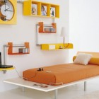 Orange with Yellow Bookcase Teen Room By Tumide