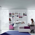 Pink Purple White Contemporary Teenagers Room Design Ideas