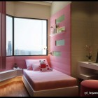 Pink Wall Kids Room Design Ideas for Girl