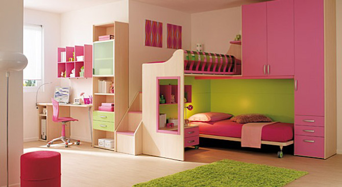 Pink And Green Badroom Decoration Interior Design Ideas