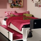 Pinky Trendy Teen Bedroom with Sliding Bed