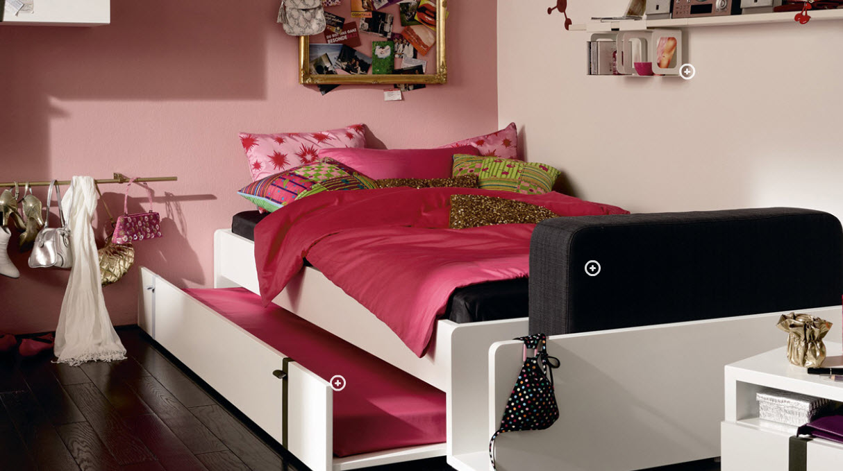 Pinky Trendy Teen Bedroom with Sliding Bed ... as one of the most epic views ever created for the Halo franchise and ...