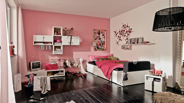 Pinky Trendy Teen Bedroom - Interior Design Ideas