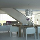 Remarkable White Themed Dining Room Design Ideas