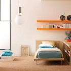 Shining Turquoise Orange Bed Room