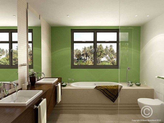 Shining Bathroom Interior by Voodoo Butta