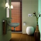 Shining Cultural Texture Bathroom Seagrass Green Wall Design Ideas