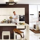 Shining Dark Brown Kitchen Design