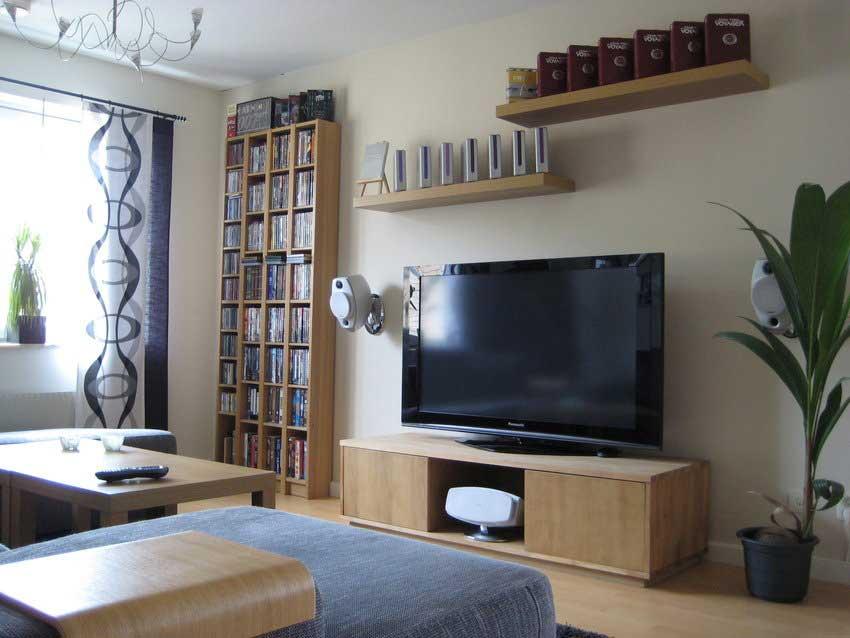 shining living room decor tv setup interior design ideas. Black Bedroom Furniture Sets. Home Design Ideas