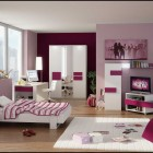 Shining Purple 3D Teen Room by FEG