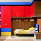 Shining Red and Blue Kids Room Design