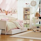 Shining Rooms for Girls with White Bunk Beds