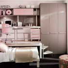 Shining Soft Pinky Bunk Beds and Lofts Design for Kids