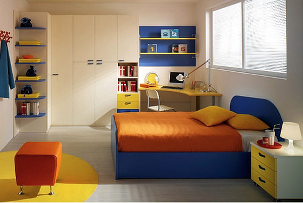 Simple Full Color Kids Room Design Ideas