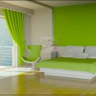 Simple Green Bedroom by eMMka