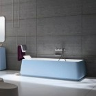 Simple Modern Bathroom Blue Sea Color Bathub Designs Ideas from Rexa