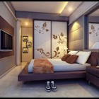 Simple Warm Bedroom with Cool Wall Art