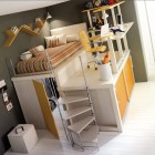 Single Bunk Beds and Lofts Design for Kids