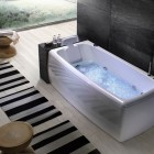 Soft Angles Bathtub With Head Rest by BluBleu
