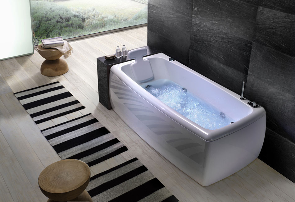 Soft Angles Bathtub With Head Rest by BluBleu