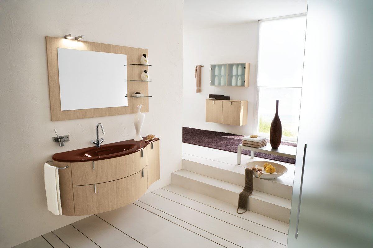 Super Classy Bathroom with Brown Rug