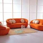 Super Orange Modern Sectional Sofa