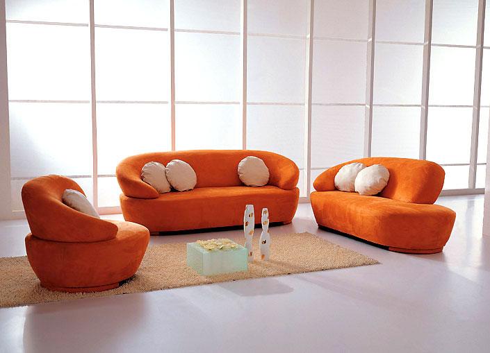 Super Orange Modern Sectional Sofa
