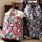 Teen Ocean Floral Laundry Back Pack Design