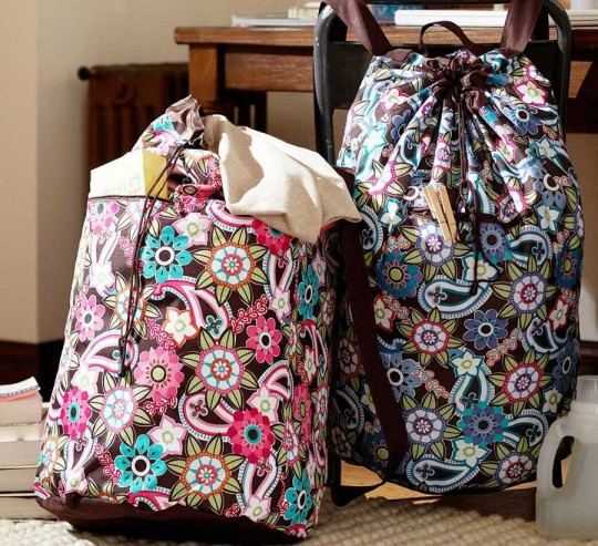 Teen Ocean Floral Laundry Back Pack Design