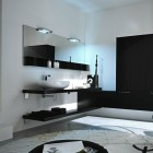 Top Design Black and White Modern Bathroom