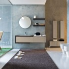 Top Design Blue Biege Modern Bathroom