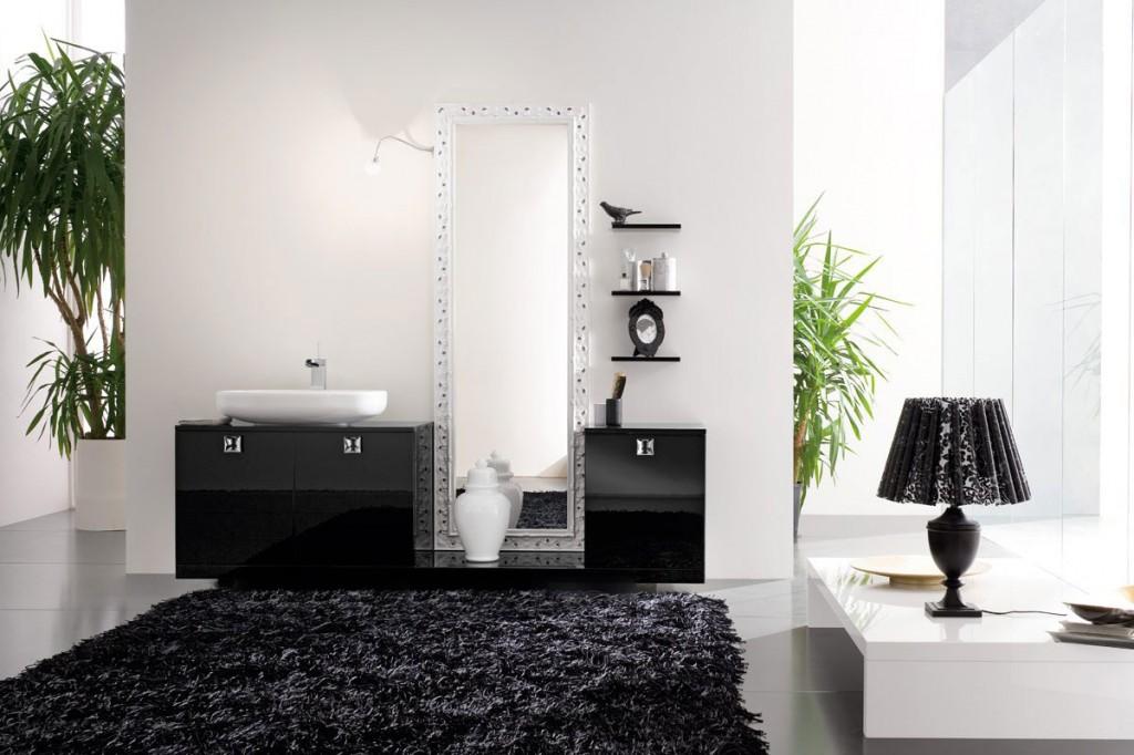 Top Design Modern Bathroom with Black Rug