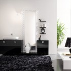 Top Design Modern Bathroom with Black Rug