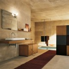 Top Design Modern Bathroom with Stone Walls