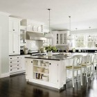 Tradition White Kitchen Island Storage