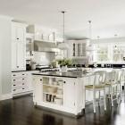 Tradition White Kitchen Island Storage