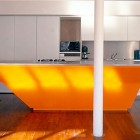 Unique Special Orange Kitchen Island