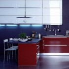 Veneta Cucine Blue and Red Kitchen