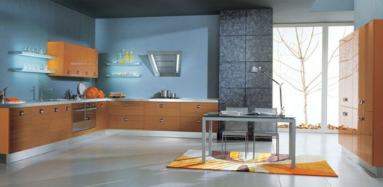 Vitalo Cucine Blue Kitchen Color Combination