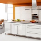 White And Orange Kitchen Design Ideas
