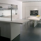 White Minimalist Kitchen Beautiful Lighting Inspiration