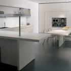 White Minimalist Kitchen Beautiful Lighting Inspiration