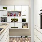 White Modern Retro Floor Tiles