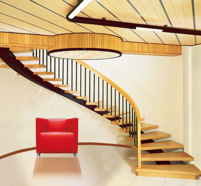 Wooden spiral stairs design ideas interior design ideas for Curved staircase design plans