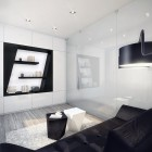 Amazing Black and White Living Room Design